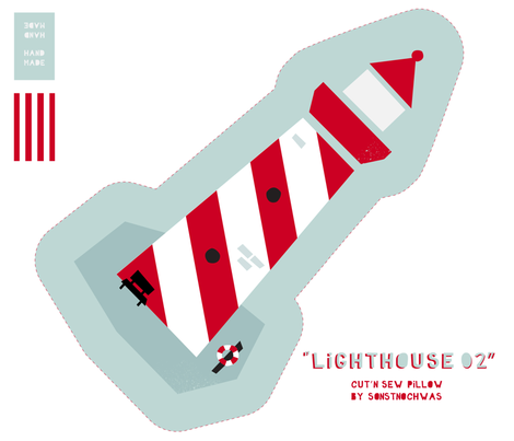 """Cut and Sew """"Lighthouse 02"""" fabric by sonstnochwas on Spoonflower - custom fabric"""