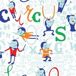 Amazing flea circus alphabet