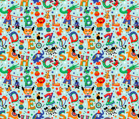 Alphanimals fabric by nuk on Spoonflower - custom fabric