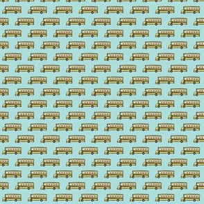 (micro print) school bus fabric
