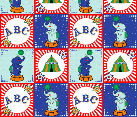 Alphabet_Circus fabric by melissa_nobbs_designs on Spoonflower - custom fabric