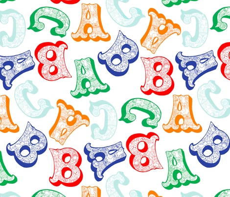 Circus Alphabet fabric by gingerlique on Spoonflower - custom fabric