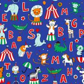 Animal Circus Alphabet - blue