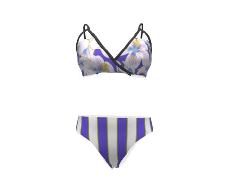 Cabana Stripes Purple White Accent 300