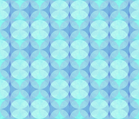 Textured Circles Turquoise 300 fabric by kadyson on Spoonflower - custom fabric