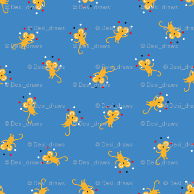 juggler mouse - blue