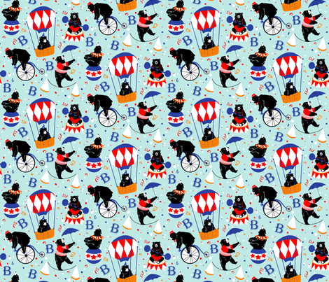 B is for Bear! fabric by brittany_vogt on Spoonflower - custom fabric
