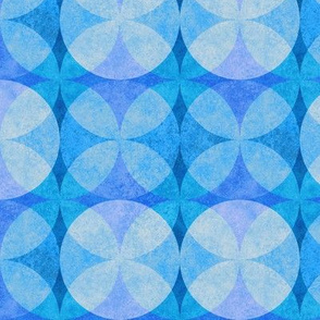 Textured Circles Bright Blue 300