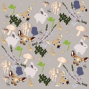 mixed fawn and friends print mothers milk
