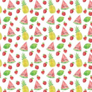 Watermelon Pineapple Summer Fruit Pattern
