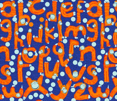 Orangutangle fabric by paula's_designs on Spoonflower - custom fabric