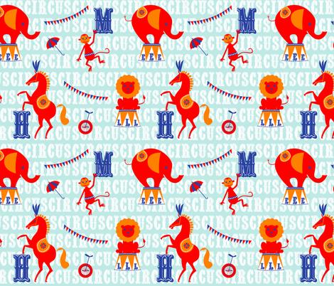 alphabet circus fabric by michaelakobyakov on Spoonflower - custom fabric