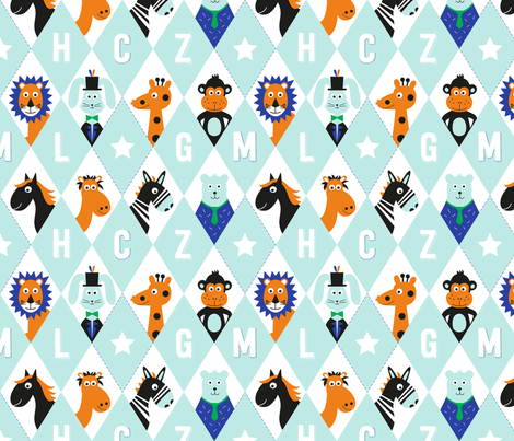 Animal-Alphabet fabric by la_fabriken on Spoonflower - custom fabric