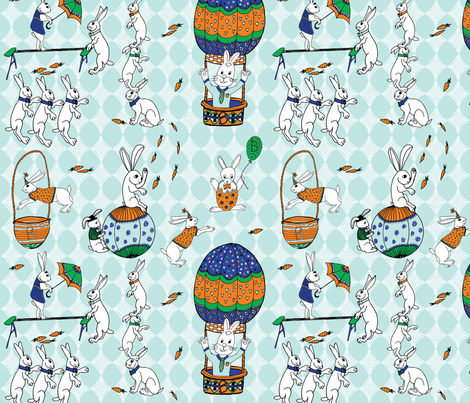 Circus bunnies fabric by palifino on Spoonflower - custom fabric