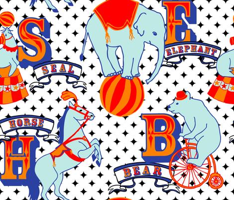 Circus Animals fabric by fernlesliestudio on Spoonflower - custom fabric