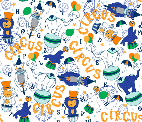 C is for Circus fabric by penandpaint on Spoonflower - custom fabric