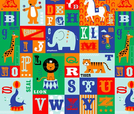 Big Top Alphabet fabric by jenimp on Spoonflower - custom fabric