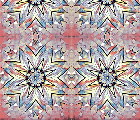 Mosaic - light pink and blue fabric by penni333 on Spoonflower - custom fabric