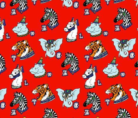 Alphabet Circus Animals fabric by pond_ripple on Spoonflower - custom fabric