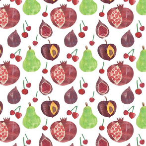 Plums Pears and Pomegranates
