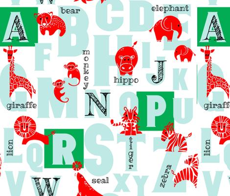 Circus Animal Alphabet fabric by adenaj on Spoonflower - custom fabric