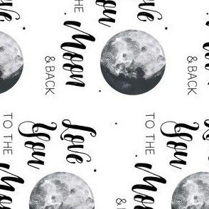 "4"" Love You to the Moon & Back / 90 Degrees"