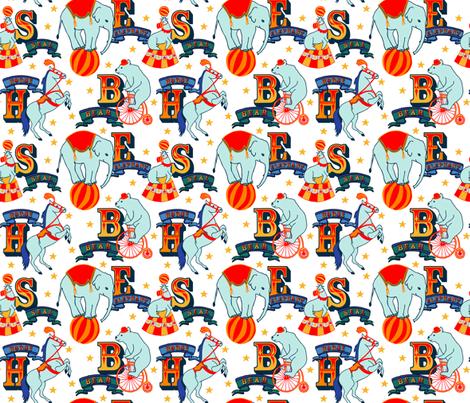 Alphabet  Animals Multi fabric by fernlesliestudio on Spoonflower - custom fabric