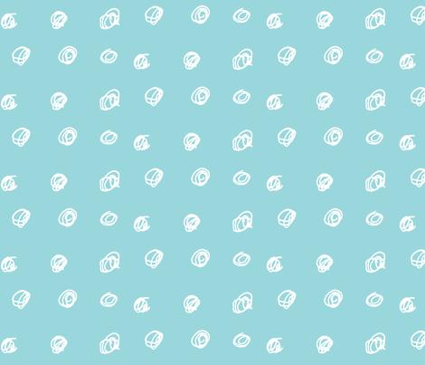 Scribble dots in sky blue fabric by ali*b on Spoonflower - custom fabric