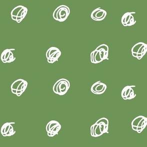 Scribble dots in green