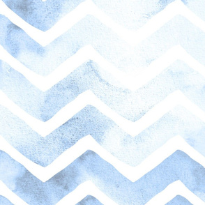 Beachy Blue and White Chevron