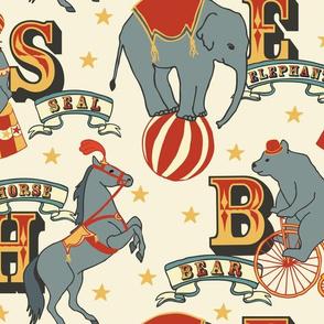 Alphabet Animal Vintage - Light