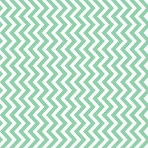 Mint Green Zig Zag