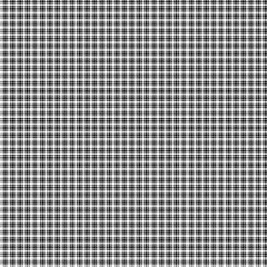 Plaid 6 White On Black 1:6