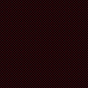1:6 Polka Dots-Cherry Red On Black