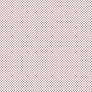 1:6 Polka Dots-Cherry Red On White