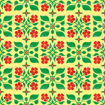Little island floral day wallpaper amanda guardado for Little island design