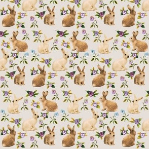Bunnies in the Garden, Linen