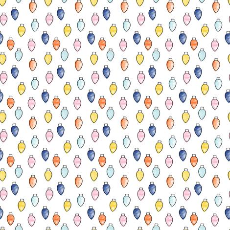 (micro print) christmas lights fabric by littlearrowdesign on Spoonflower - custom fabric