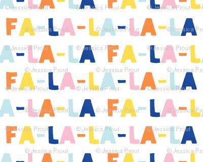 FA-LA-LA-LA-LA - multi - holiday fabric