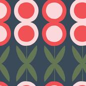 Folk Floral - Navy