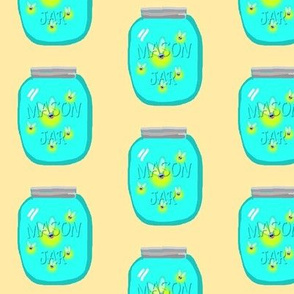 Bug in a Ball-Fireflies in mason jar