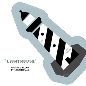 "Cut and Sew ""Lighthouse"" (black and white)"