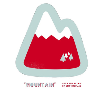 "Cut and Sew ""Mountain"" Pillow"