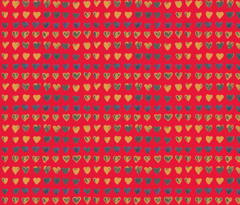 Hearts red petit fabric by heanne on Spoonflower - custom fabric