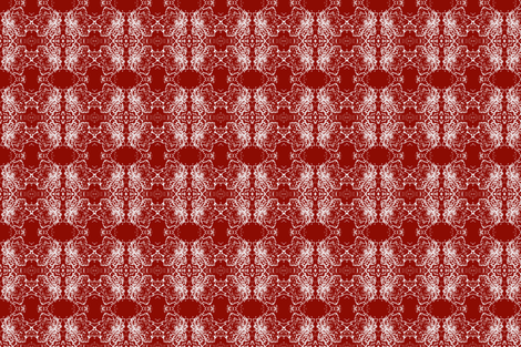 A Special flower iron red  fabric by heanne on Spoonflower - custom fabric