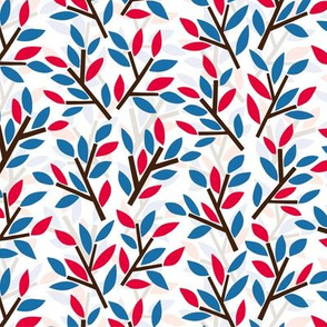 Organic pattern red and blue