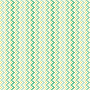 Mint Green and Yellow ZigZag