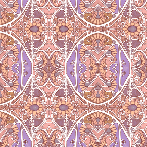 Another Flowery Nouveau Thing fabric by edsel2084 on Spoonflower - custom fabric
