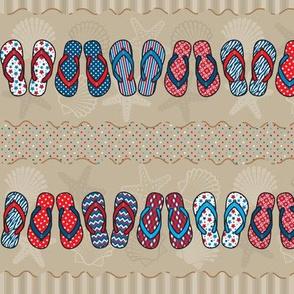 Flip Flop Stripes - Patriotic