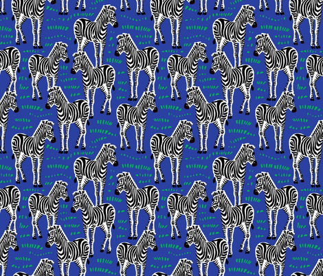 zebra fabric by uramarinka on Spoonflower - custom fabric
